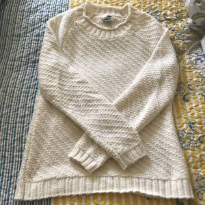 Old Navy Cream Waffle Knit Crewneck Sweater S